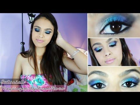 Maquiagem Azul com Roxo
