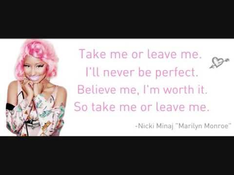 Nicki Minaj - Marilyn Monroe (Lyrics) -rlVm74eruMg