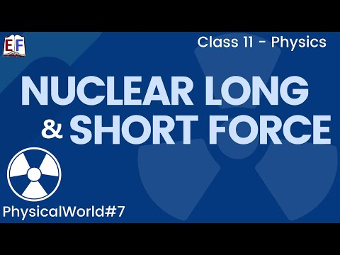 CBSE Physical World Physics Class X1 Part 6 (Nuclear, Long and Short Force)