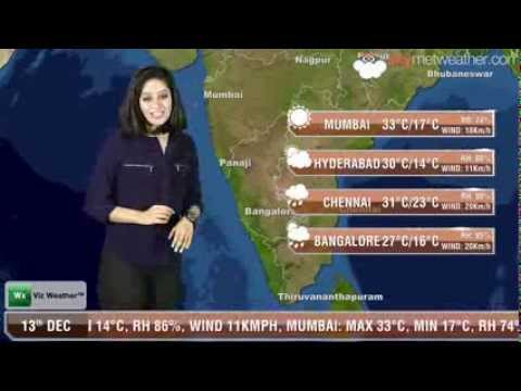 13/12/13 - Skymet Weather Report for India