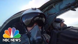 Russian Warplanes Carry Out Bombing Drills In Baltic Sea | NBC News - NBCNEWS
