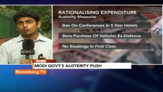 Newsroom: Modi Government's Austerity Push - BLOOMBERGUTV