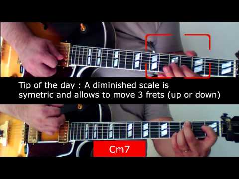 Jazz Guitar Lesson : diminished scale's secret