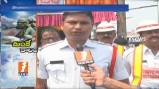 People Fear Over High Temperature in Kothagudem | Traffic Police Arrange Chalivendram | iNews - INEWS