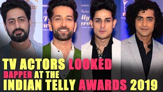 Handsome hunks who nailed the Red Carpet I Indian Telly Awards 2019 I Exclusive I TellyChakkar - TELLYCHAKKAR