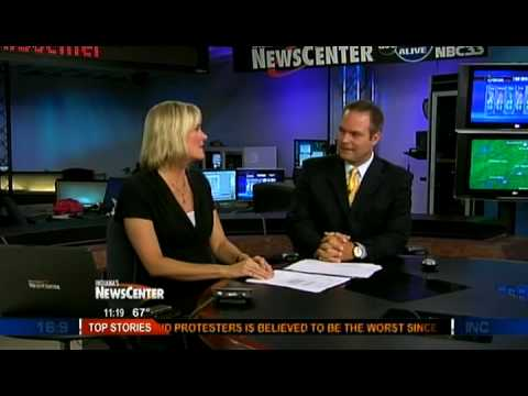 Snarky argument between news anchorwoman and weatherman