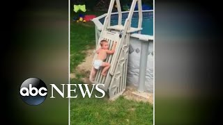 Toddler climbs safety ladder to above-ground pool - ABCNEWS
