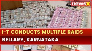Income Tax Department Conducts Multiple Raids in Bellary, Karnataka - NEWSXLIVE