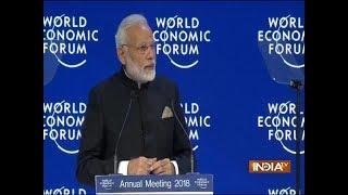 WEF 2018 | PM Modi in Davos: PM Narendra Modi addresses World Economic Forum plenary - INDIATV