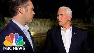 VP Mike Pence Speaks On Charlottesville And Donald Trump's Comments | NBC News - NBCNEWS