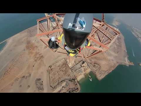 UAE Awesome Base jump antenna 400 ft