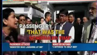 Angry doctor shouts at Union Minister KJ Alphons after flight delayed at Imphal Airport - NEWSXLIVE
