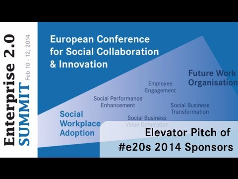 #e20s 2014 | Elevator Pitch of Sponsoring Partners
