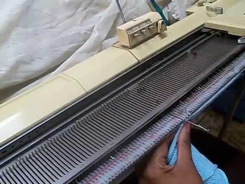 coma fazer franjas  na maquina de trico