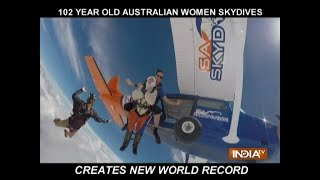 102-year-old woman is now the oldest skydiver in the world - INDIATV