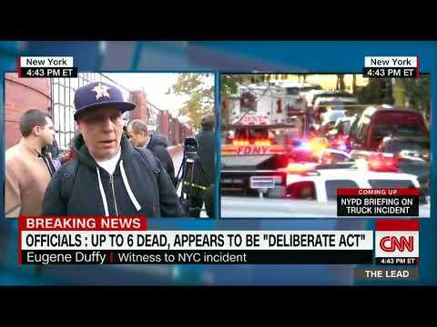 Świadek ataku w Nowym Jorku