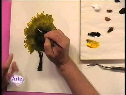 Cómo pintar árboles y follajes al  óleo