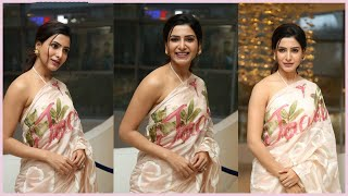 Samantha Looks So Pretty In Saree At Jaanu Thanks Meet | Jaanu | Samantha Akkinneni - RAJSHRITELUGU