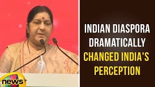 Sushma Swaraj Says Indian Diaspora Dramatically Changed India's Perception Across World | Mango News - MANGONEWS