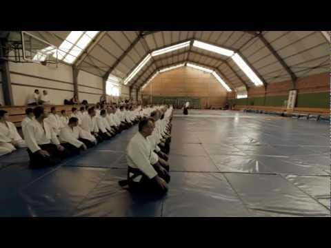 First lesson, Christian Tissier 7.Dan Aikikai Hombu, Stage in Belgrade, Serbian Aikido Federation