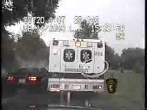 Parked Ambulance at scene gets rear-ended by gawker. - Two The Rescue for Emergency Responders