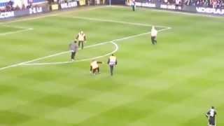 جماهير توتنهام تقتحم الملعب في مباراة بارتيزان بلجراد الصربي