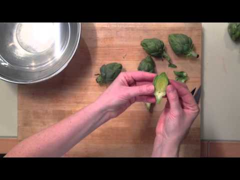 How to Prepare Baby Artichokes