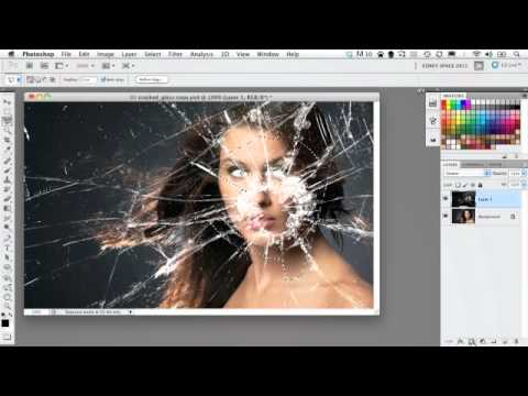 Photoshop - Dramatic Broken Glass