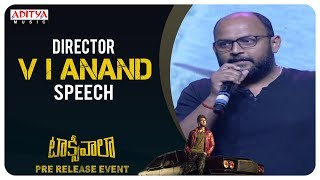 Director VI Anand Speech @ Taxiwaala Pre-Release EVENT Live || Vijay Deverakonda, Priyanka Jawalkar - ADITYAMUSIC