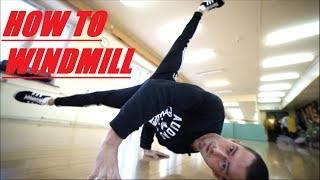 обучалка гелик(how to windmill) b-boy Fe_DoSk1n (ENG Sub)