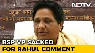 As Mayawati Sacks Aide For Dig At Rahul Gandhi, Mixed Cues For Congress - NDTV