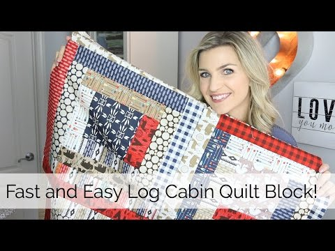 Beginner Log Cabin Quilt Block Tutorial