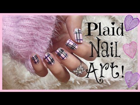 Pink Plaid Nail Art!   MissJenFABULOUS