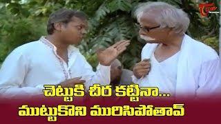 చెట్టుకు చీర కట్టినా.. ముట్టుకొని మురిసిపోతావ్... | Telugu Comedy Scenes | NavvulaTV - NAVVULATV