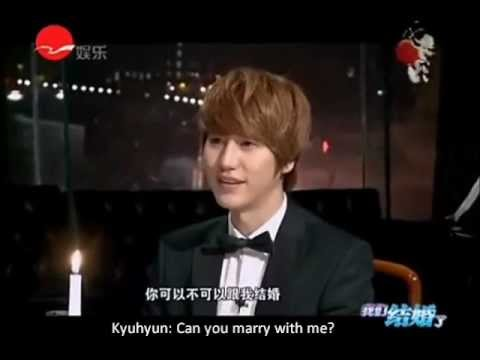[ENG SUB] 120214 Kyuhyun on We Got Married special edition in China (1) 2/2