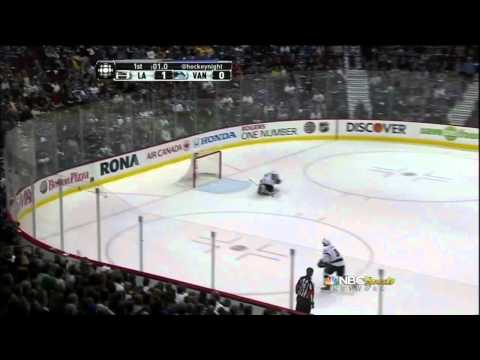 Dustin Brown SHG goal. Los Angeles Kings vs Vancouver Canucks 4/13/12 NHL Hockey