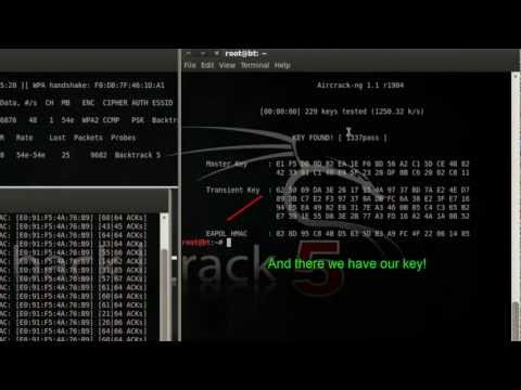 Cracking WPA/WPA2 Network Keys in Backtrack 5 [Aircrack-ng]