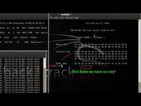 Cracking WPA/WPA2 Network Keys in Backtrack 5 [Aircrack-ng]