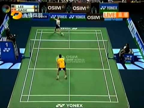 Badminton Yonex Sunrise India Open 2011 MS Final Lee chong wei vs Peter Gade 01