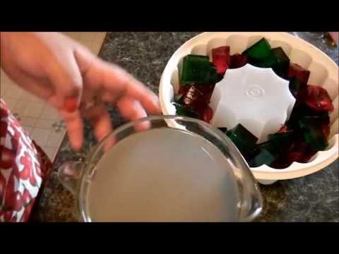 gelatina de mosaico transparente