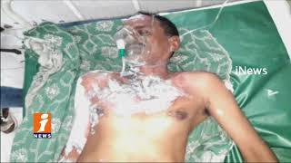 AR Constable Srinivas Tried To End life By Pouring Kerosene In Eluru | iNews - INEWS