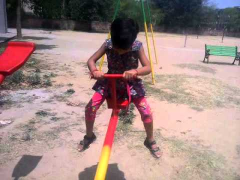 sarsaina girl Lovey playing in school delhi