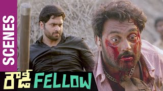Nara Rohit Kills Ajay | Rowdy Fellow Telugu Movie Scenes | Vishakha Singh | Sunny MR - TELUGUFILMNAGAR