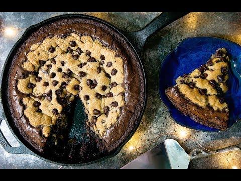 Large Chocolate Chip Brookie (كعكة سهلة برقائق الشوكولاتة (كوكيز