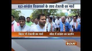 Single largest party: Tej & Tejashwi Yadav meet Governor to stake claim on govt in Bihar - INDIATV
