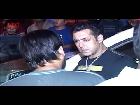 Salman in a discussion with composer Wajid
