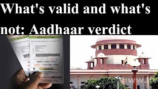 All you need to know about Aadhaar card judgement by Supreme Court today - NEWSXLIVE