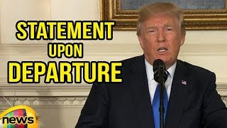 US President Trump Delivers A Statement Upon Departure | Mango News - MANGONEWS