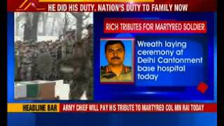 Army Chief will pay his tribute to martyred Colonel MN Rai - NEWSXLIVE