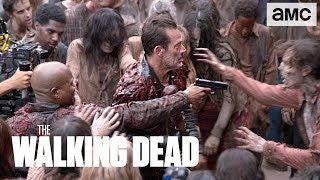 'Negan & Gabriel Gutting Up' Behind the Scenes Ep. 805 | The Walking Dead - AMC